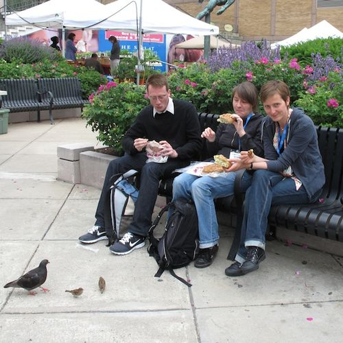 People eating When Pigs fly bread ©2009 Penny Cherubino
