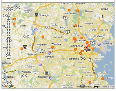 Google map of museums