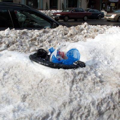 Trash-barrel-snow © 2011 Penny Cherubino-Bostonzest 1-27-11  021