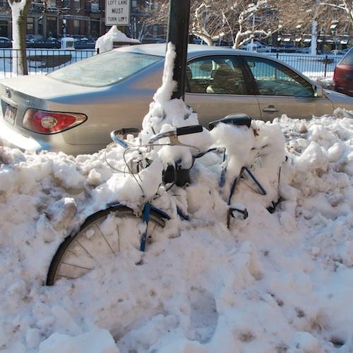 Bike-buried-snow © 2011 Penny Cherubino-Bostonzest 1-16-11  023