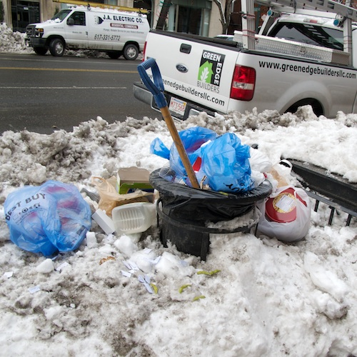 Trash-barrel-snow © 2011 Penny Cherubino-Bostonzest 1-14-11  022