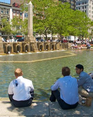 IMG_5067 - Version 22011-06-21-keeping-tie-clean-copley-square-boston- ©2011 Penny Cherubino© 2011 Penny Cherubino