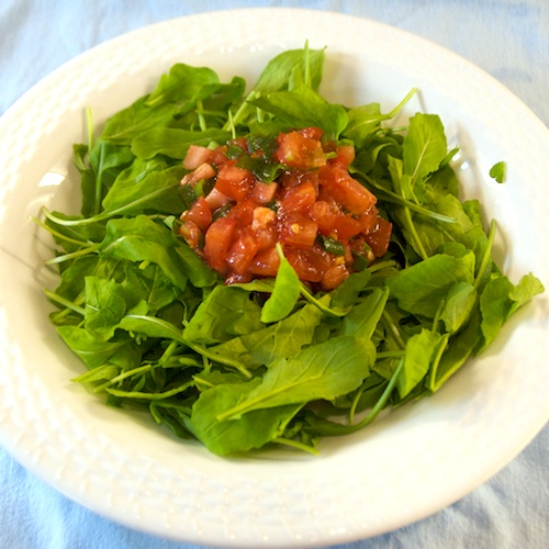 DSC_8768 - Version 22011-06-24Arugula-salad-tomato-© 2011 Penny Cherubino© 2011 Penny Cherubino