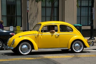 DSC_9119 - Version 22011-06-30yellow, vw, classic, brookline, harvard, ave© 2011 Penny Cherubino