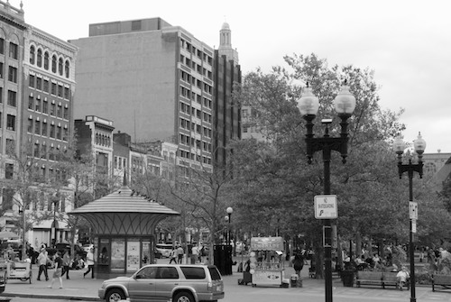 DSC_1374 - Version 32011-08-24Boylston street today B&W- © 2011 Penny Cherubino© 2011 Penny Cherubino
