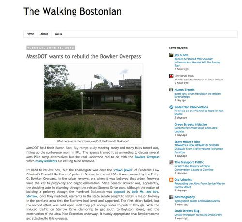 The walking bostonian