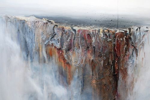 Madeleine Ahlborn_Edge_2012_mixed media and oil on canvas_6x6 feet