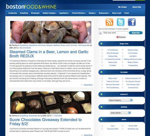 Boston Food & Whine