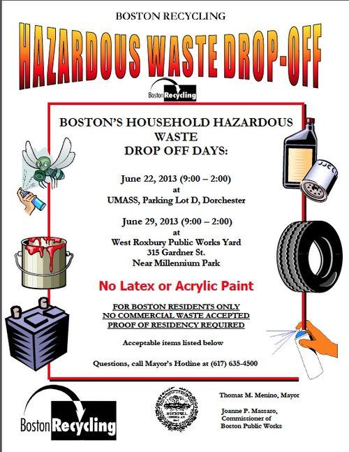 Hazardous wster drop off flyer
