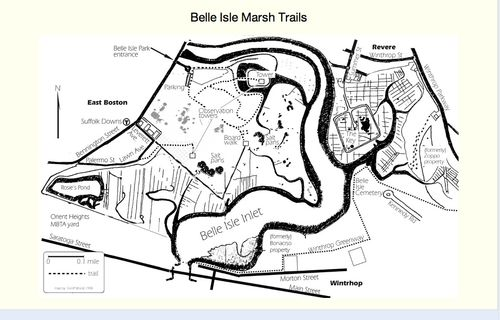 Belle Isle trail map