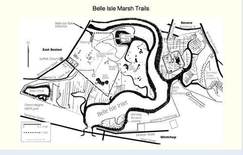 Belle Isle trail map