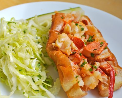 DSC_8464 - Version 22013-09-12-hot-buttered-lobster-roll-asian-slaw-pickle-Canteen-provincetown-© 2011 Penny Cherubino
