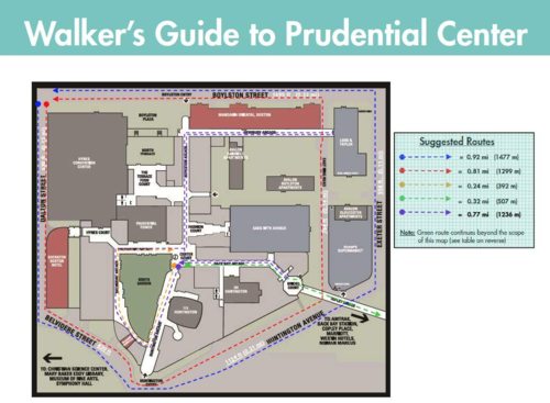 Prudential walking guide