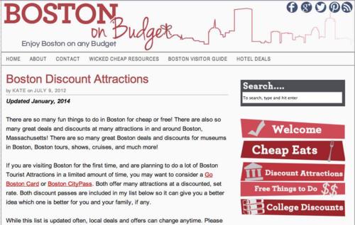Boston on budget