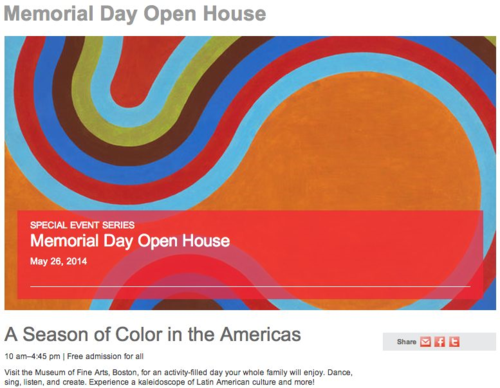 MFA Memorial day openhouse