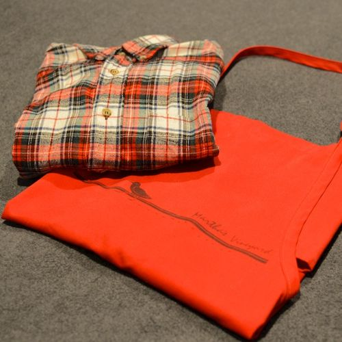 DSC_2175 - Version 22014-05-19-apron-old flannel shirt-cooking in a rental-© 2011 Penny Cherubino