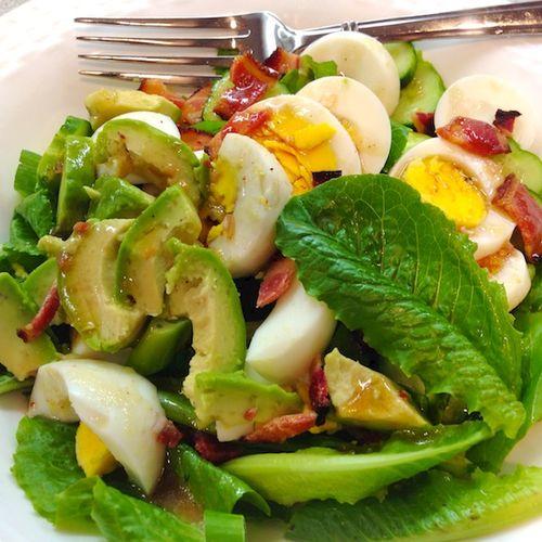 IMG_0851 - Version 22014-07-25-salad-raspberry-vinaigrette-egg-bacon-avacado-© 2011 Penny Cherubino