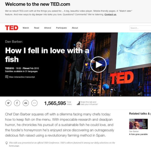 Ted talk dan barber
