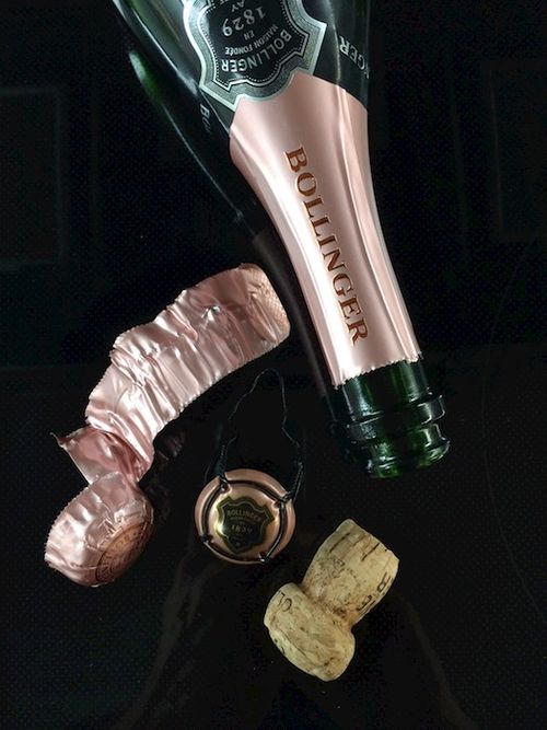 Empty Bollinger rose  - Version 22014-12-31Bollinger-rose-cage-empty-bottle-cork-© 2014 Penny Cherubino