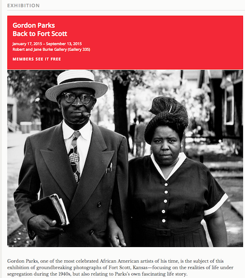 Gordon parks  MFA Openhouse 1.19.15