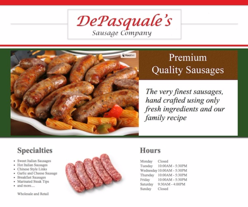 Depasqual's sausage website