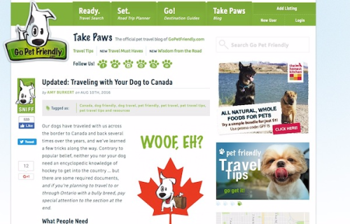 Taking Your Dog Along When You Travel to Canada