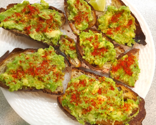 IMG_3331 - Version 22015-08-03-avocado-toast-espelette-pepper-lime-garlic-olive-oil-© 2014 Penny Cherubino
