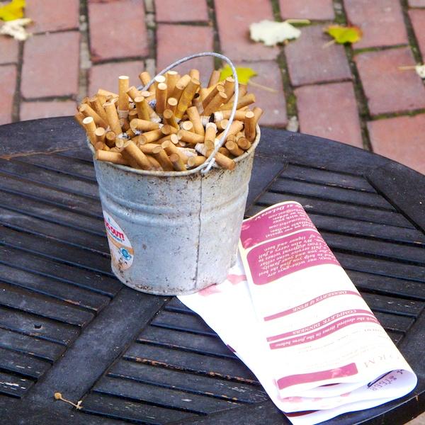 IMG_8938 - Version 22015-11-26-pail-cigarette-butts-centerpiece-table-© 2014 Penny Cherubino