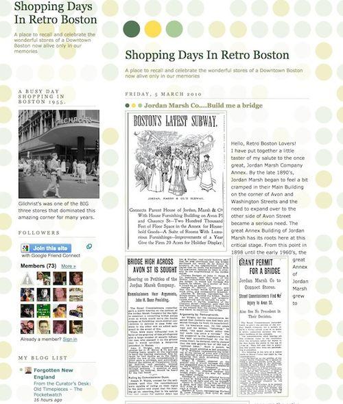 Shopping days in retro boston