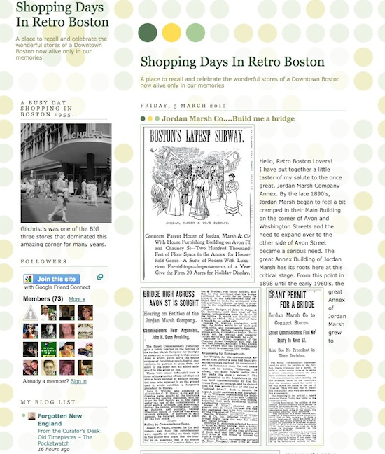 Shopping days in retro boston