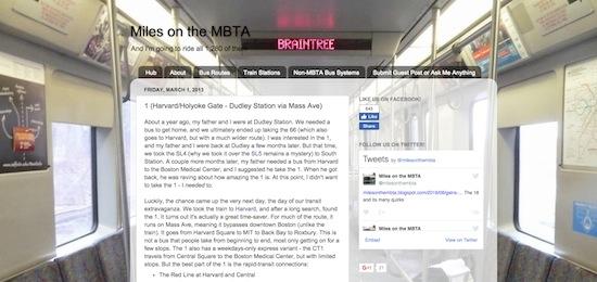 Miles on the MBTA