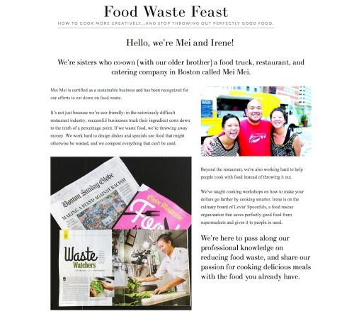 Food waste feast screenshot